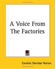 Cover of: A voice from the factories: in serious verse