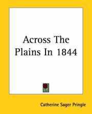 Cover of: Across The Plains In 1844