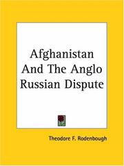 Cover of: Afghanistan And The Anglo Russian Dispute