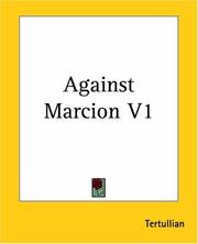 Cover of: Against Marcion