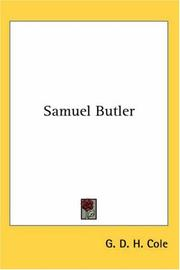 Samuel Butler by George Douglas Howard Cole
