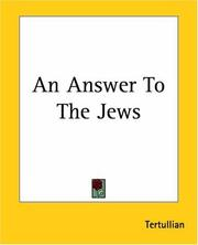 Cover of: An Answer To The Jews