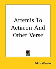 Cover of: Artemis to Actaeon, and other verse