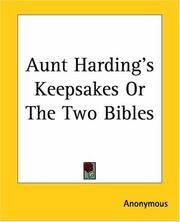 Cover of: Aunt Harding