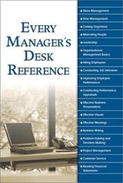 Cover of: Every Manager
