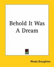 Cover of: Behold It Was A Dream