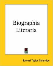 Cover of: Biographia Literaria by Samuel Taylor Coleridge