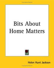 Cover of: Bits About Home Matters | Helen Hunt Jackson