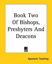 Cover of: Book Two Of Bishops, Presbyters And Deacons