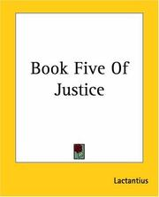 Cover of: Book Five Of Justice