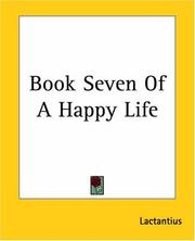 Cover of: Book Seven Of A Happy Life