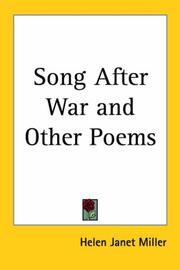 Cover of: Song After War And Other Poems