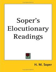Cover of: Soper's Elocutionary Readings