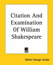 Citation And Examination Of William Shakespeare