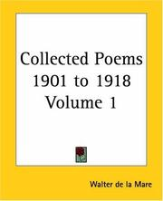 Cover of: Collected Poems 1901 To 1918