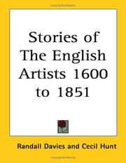 Cover of: Stories of The English Artists 1600 to 1851