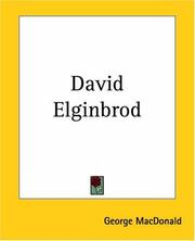 Cover of: David Elginbrod | George MacDonald