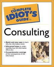 Cover of: The Complete Idiot's Guide(R) to Consulting