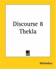 Cover of: Discourse 8 Thekla