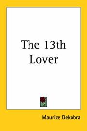Cover of: The 13th Lover