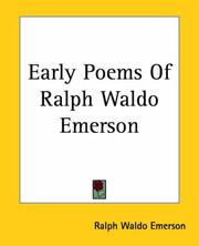 Cover of: The early poems of Ralph Waldo Emerson