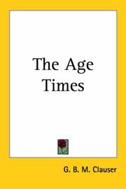 Cover of: The Age Times