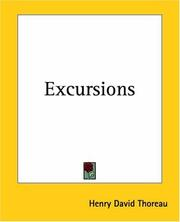 Cover of: Excursions | Henry David Thoreau