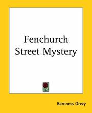 Cover of: Fenchurch Street Mystery