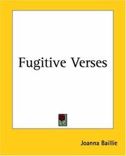 Cover of: Fugitive Verses