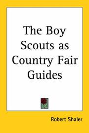 Cover of: The Boy Scouts As Country Fair Guides