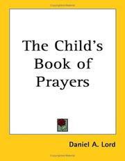 Cover of: The Child's Book of Prayers
