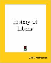 Cover of: History Of Liberia