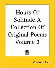 Cover of: Hours Of Solitude A Collection Of Original Poems