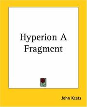 Cover of: Hyperion A Fragment: Edited with an introd. by Margaret Robertson, and notes and appendixes.
