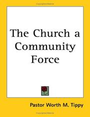 Cover of: The Church a Community Force