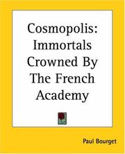 Cover of: Cosmopolis
