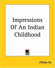 Cover of: Impressions Of An Indian Childhood