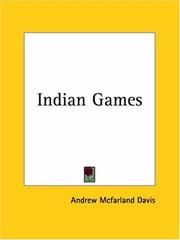 Cover of: Indian Games | Andrew Mcfarland Davis