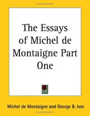 Cover of: The Essays of Michel De Montaigne