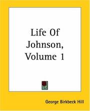 Cover of: Life Of Johnson | George Birkbeck Hill