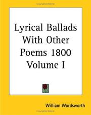 Cover of: Lyrical Ballads With Other Poems 1800