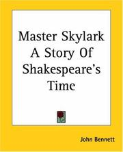 Cover of: Master Skylark A Story Of Shakespeare