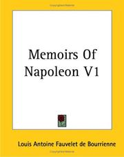 Cover of: Memoirs of Napoleon