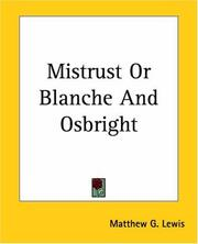 Cover of: Mistrust Or Blanche And Osbright