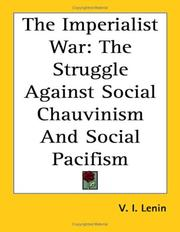 Cover of: The Imperialist War