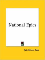 Cover of: National Epics | Kate Milner Rabb