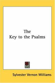 Cover of: The Key to the Psalms
