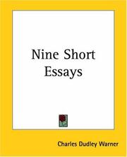 Cover of: Nine Short Essays