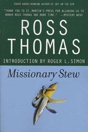 Cover of: Missionary stew | Ross Thomas