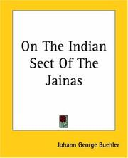 Cover of: On The Indian Sect Of The Jainas